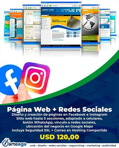 Red social y página web